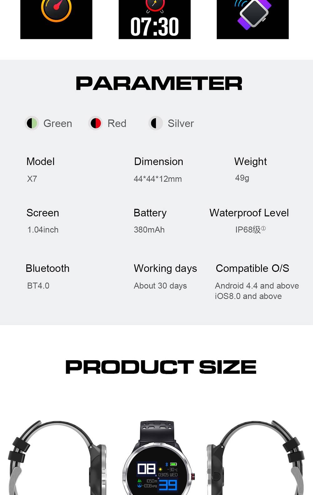 microwear x7 smartband