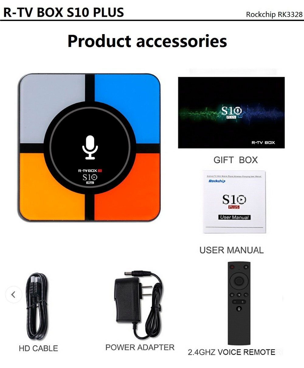 Buy R Tv Box S10 Plus 4gb Ram 32gb Rom With Wireless Charging And Inductor Coil For Camera Power Coilinductor 4k