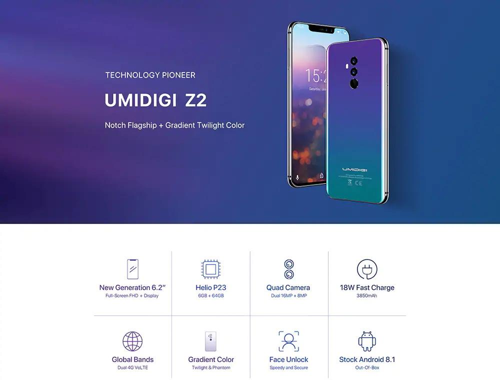 umidigi z2 4g smartphone