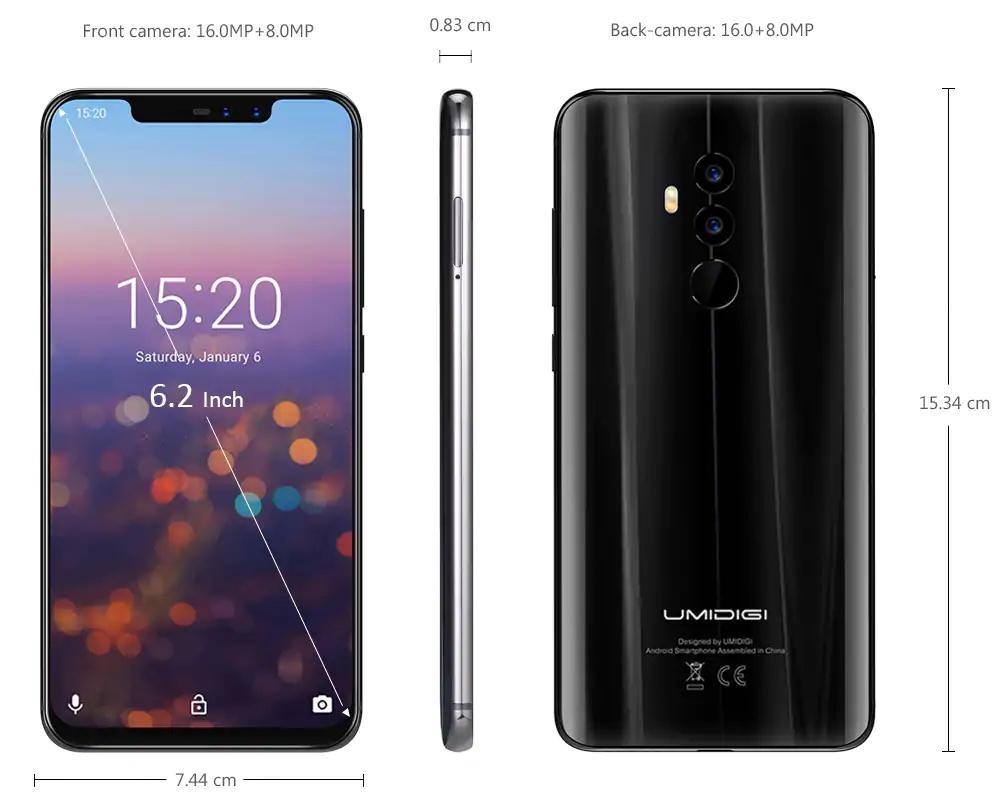 2018 umidigi 4g smartphone