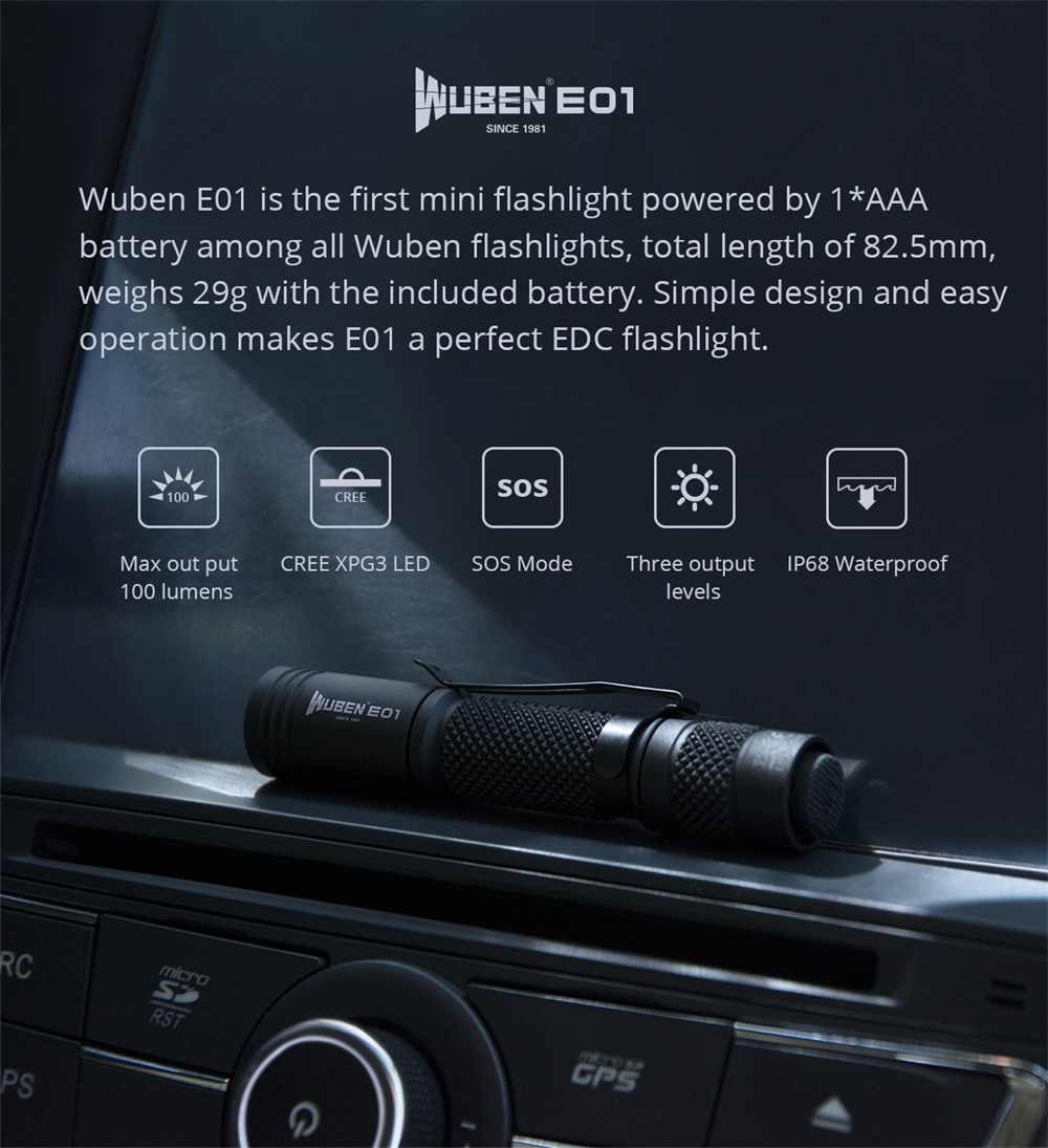 wuben e01 flashlight
