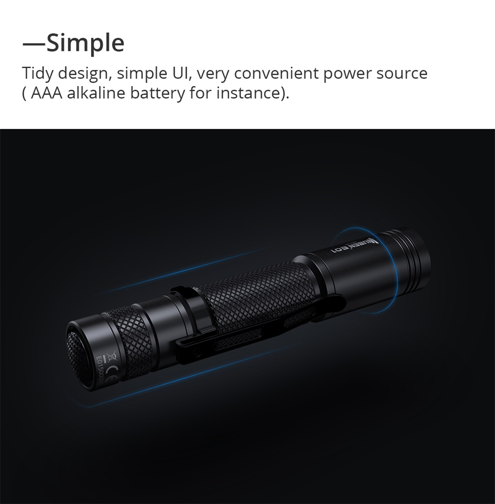 wuben e01 mini flashlight