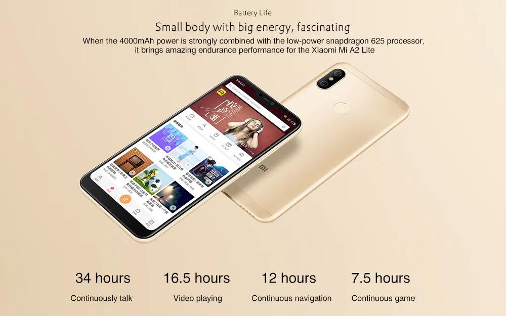 mi a2 lite smartphone