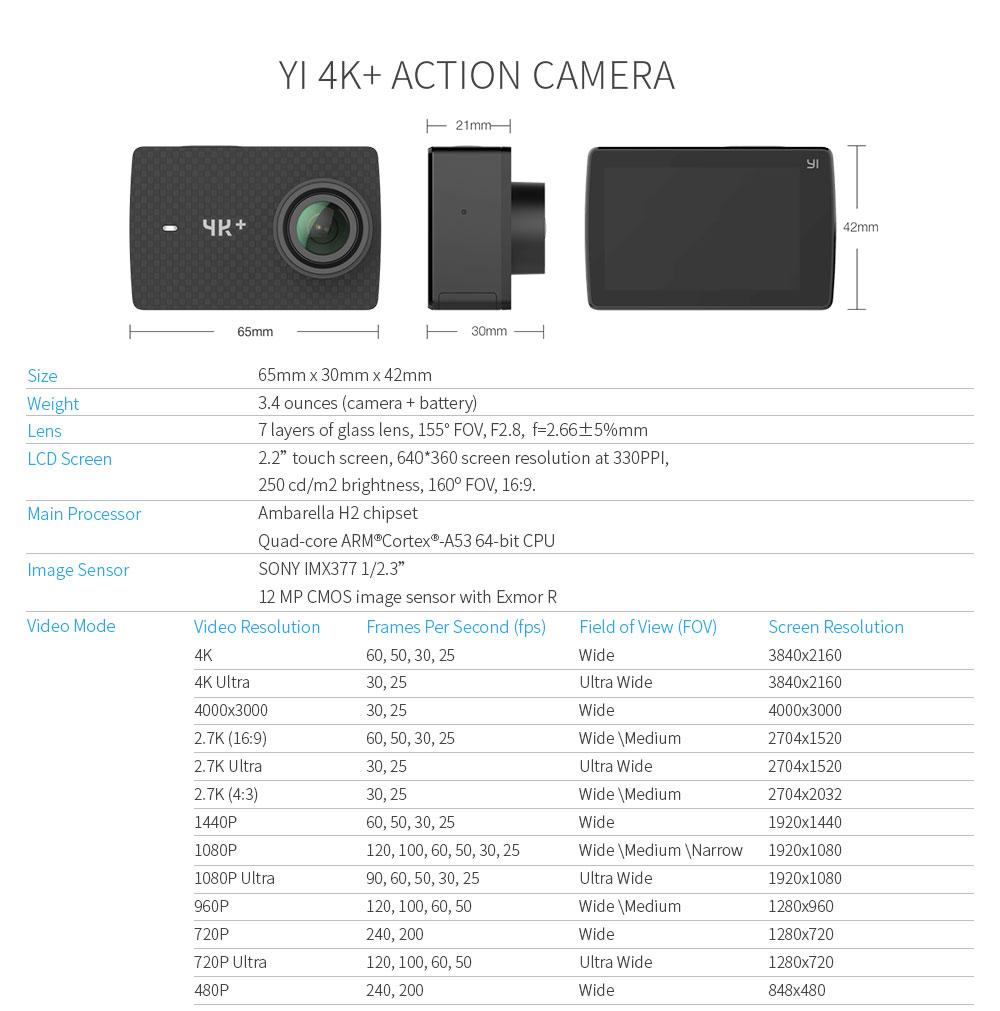 yi 4k plus camera