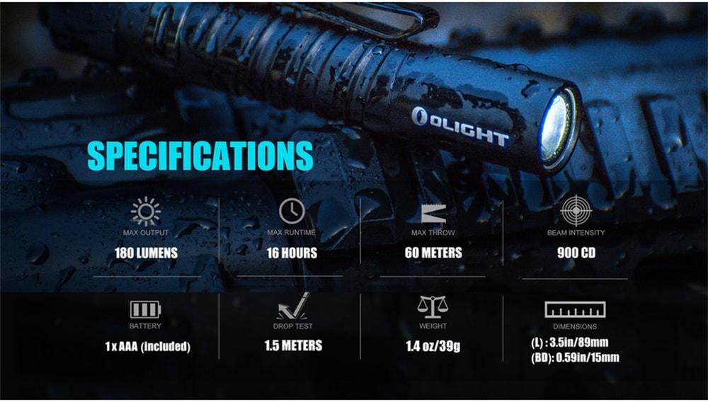 olight i3t eos flashlight