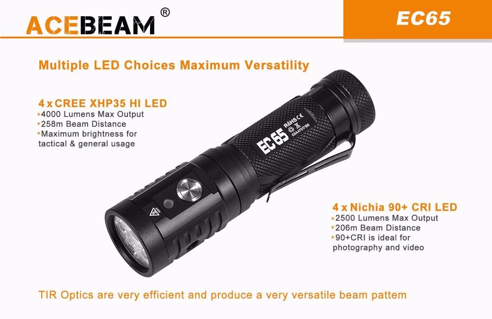acebeam ec65 flashlight