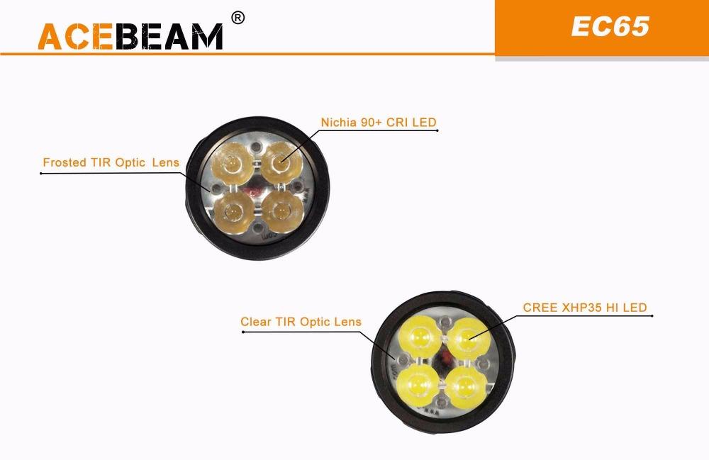 acebeam ec65 led flashlight