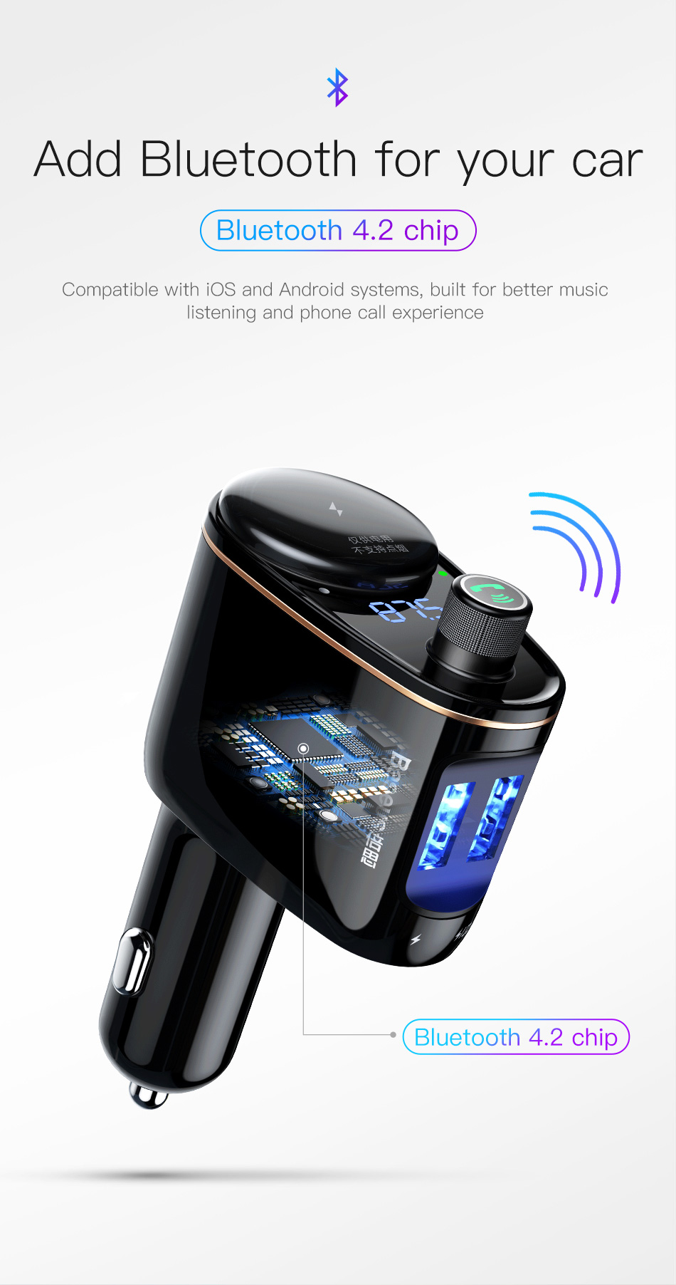 baseus car bluetooth mp3