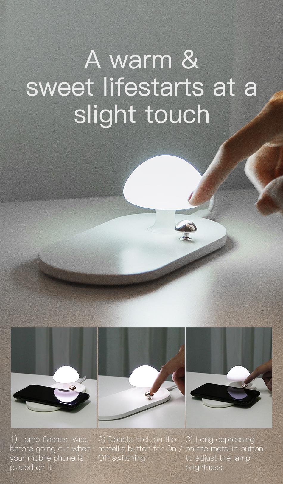 baseus mushroom lamp