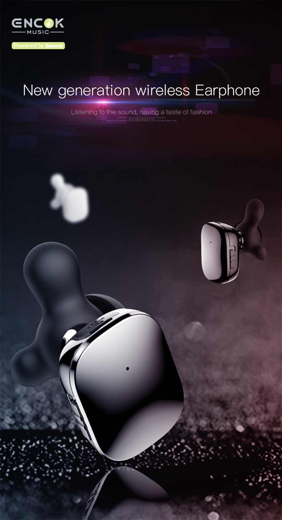 baseus w02 bluetooth earphone