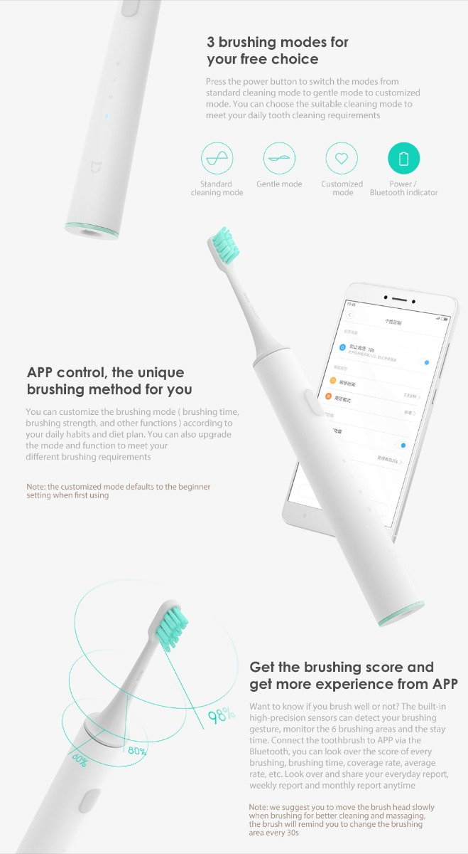 new xiaomi electric toothbrush