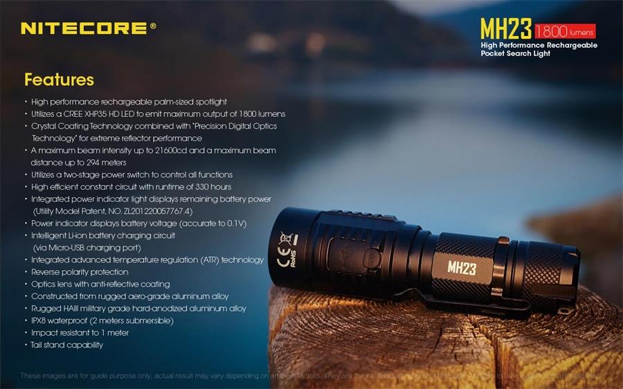 mh23 led flashlight price