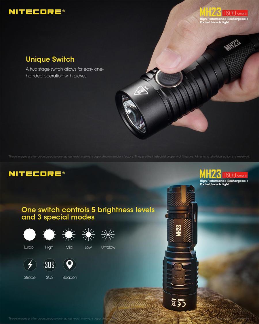 nitecore mh23 led
