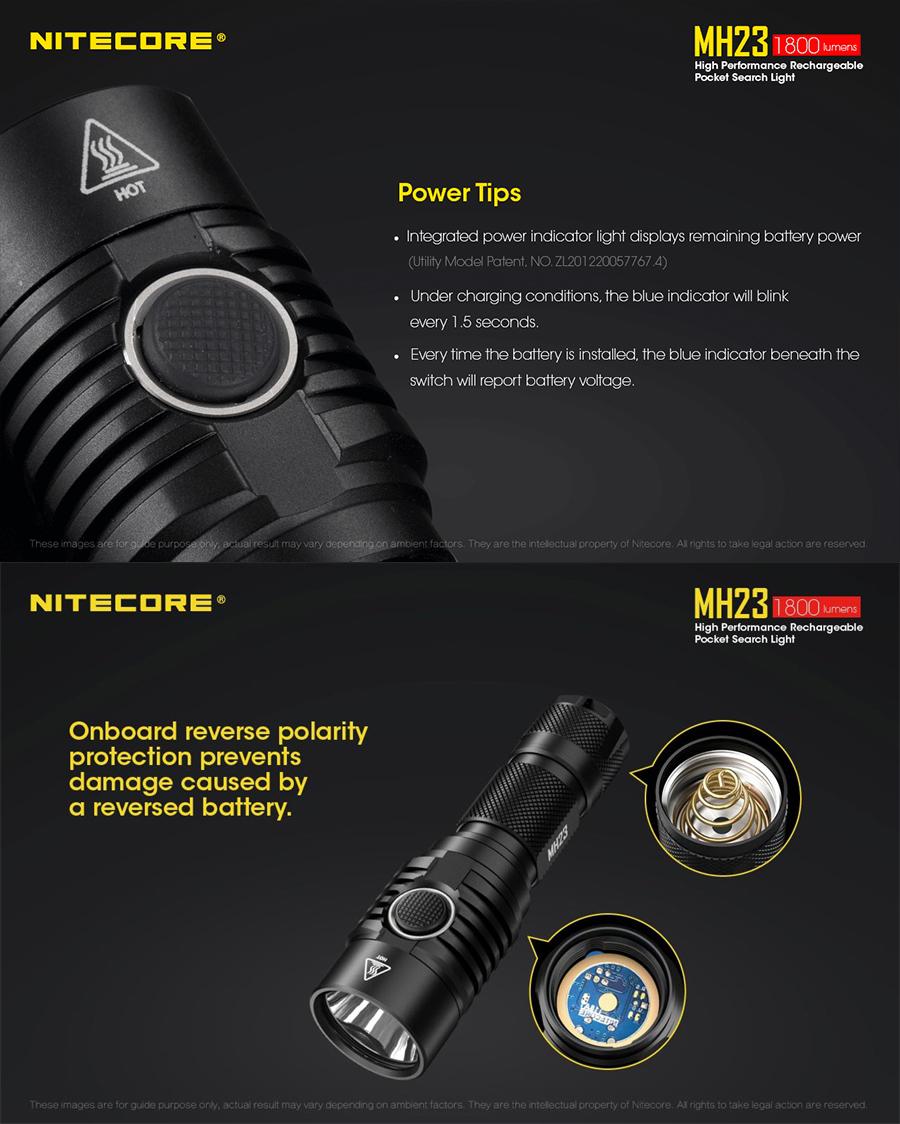 nitecore mh23 flashlight online