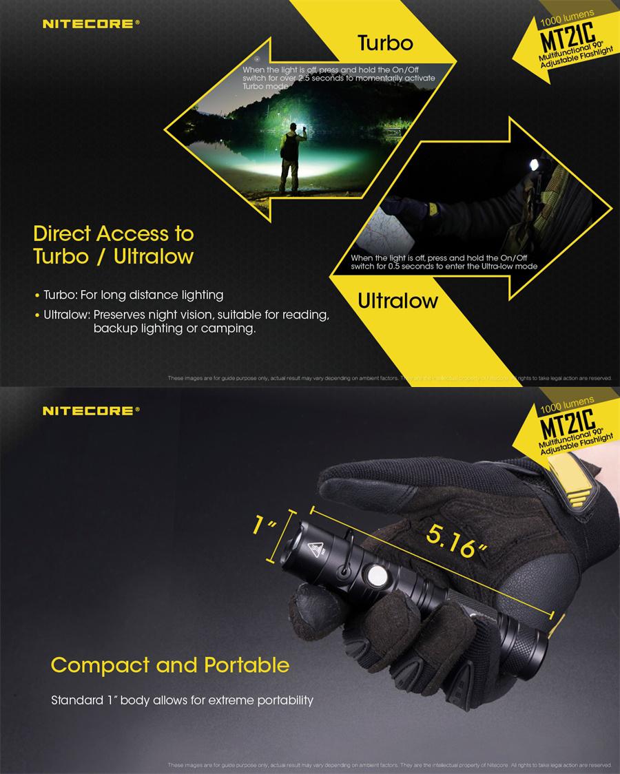 nitecore mt21c led flashlight