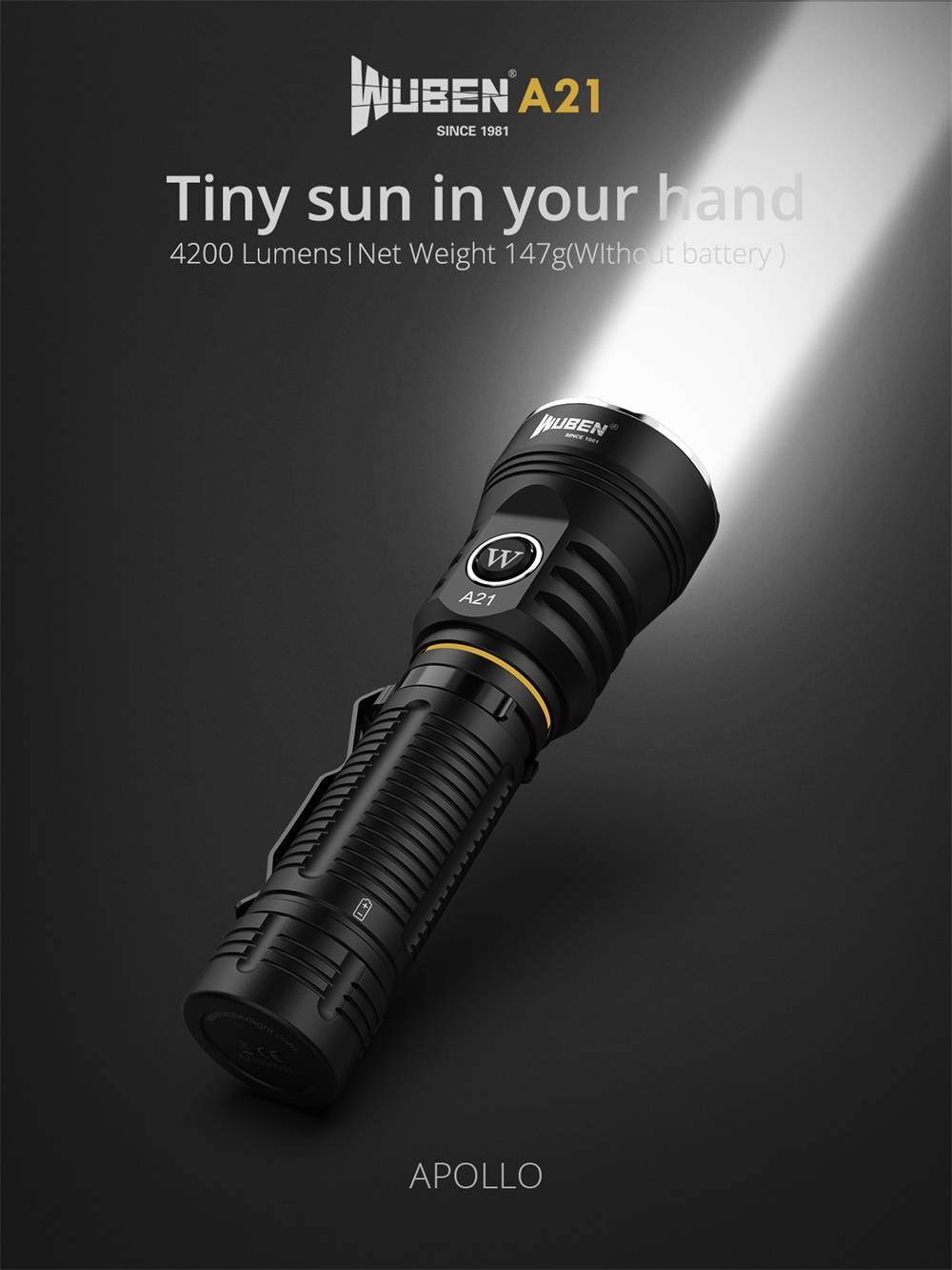 wuben a21 flashlight