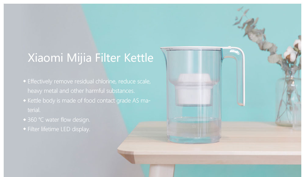 mijia water filter kettle