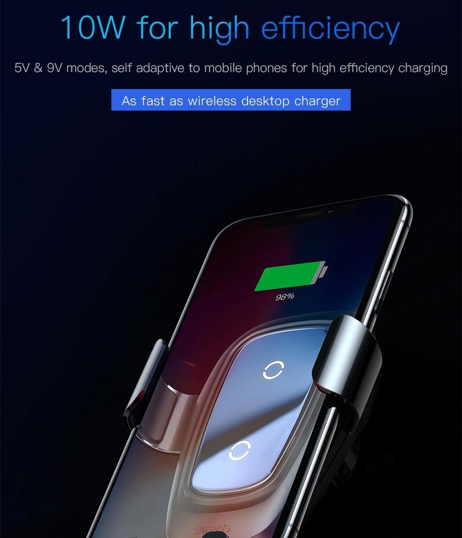 baseus fast qi wireless charger