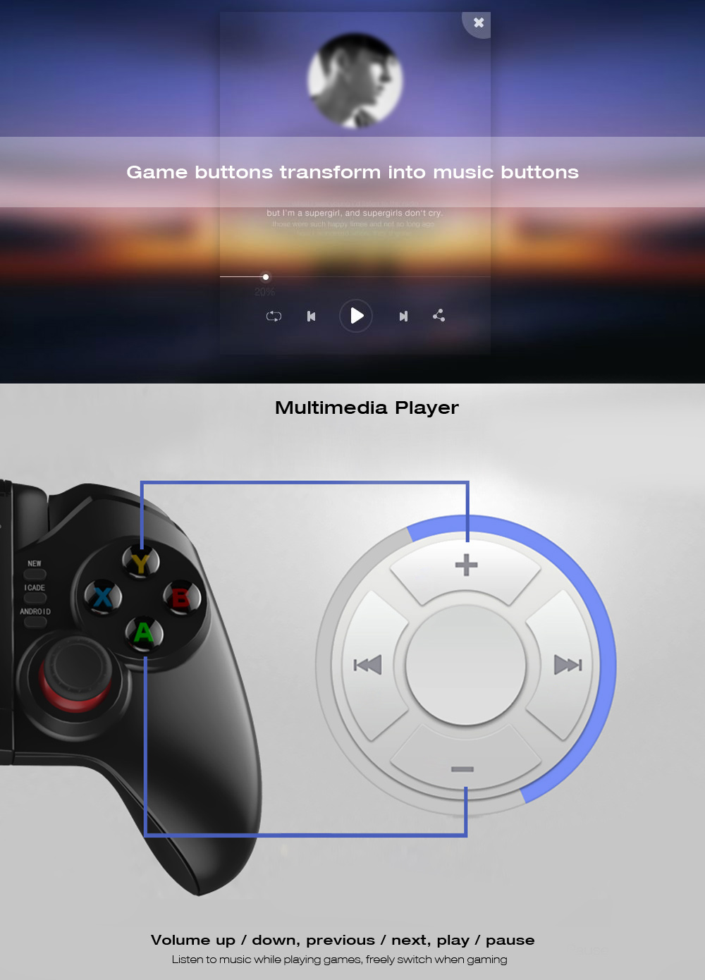 ipega pg-9068 bluetooth gamepad
