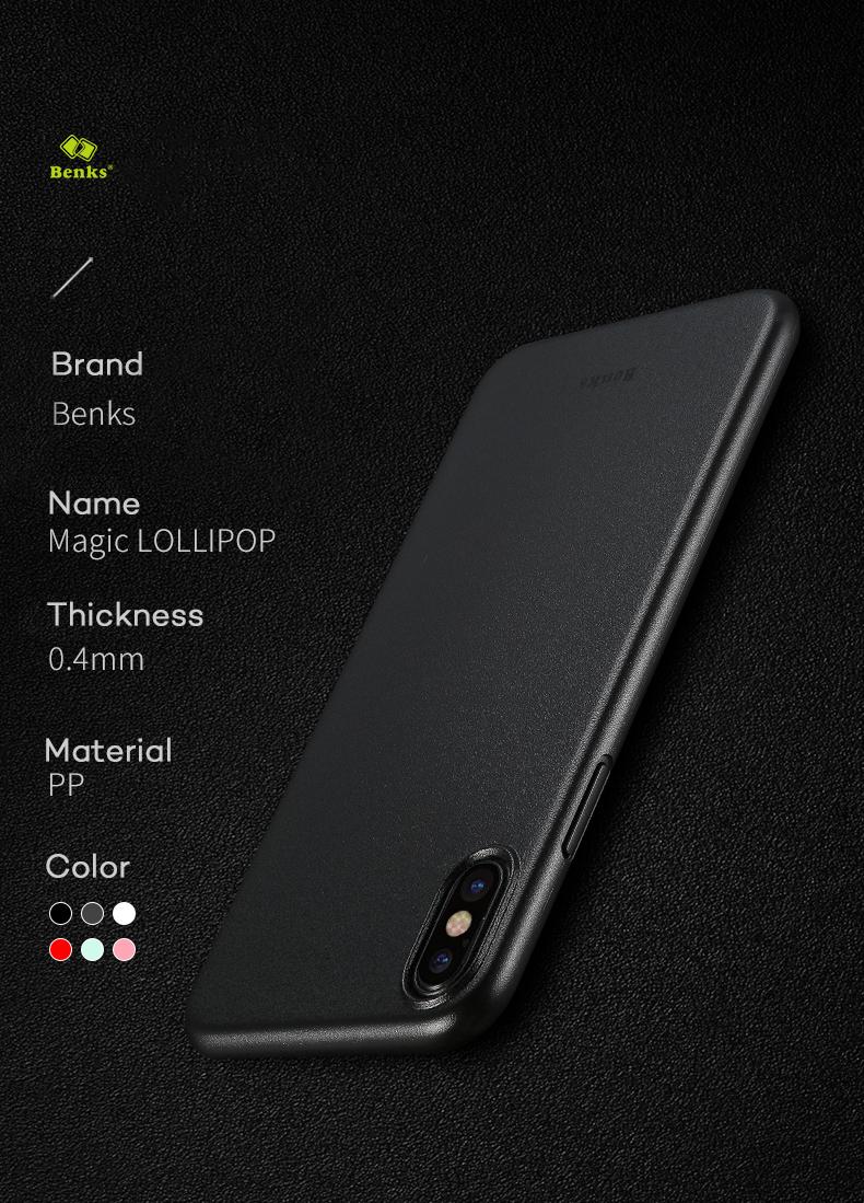 BENKS PP Matte Anti-fingerprint Case for iPhone X