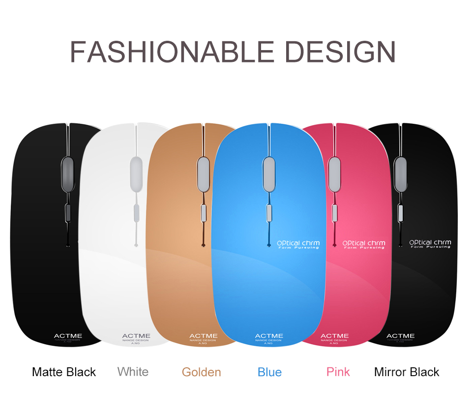 AZZOR Wireless Battery Mouse T5 Slient Ultra Thin Button Optical Mouse