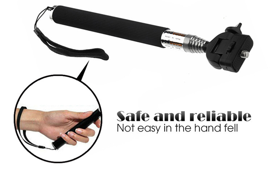 SOOCOO Retractable Handheld Monopod with Mount Adapter for Hero 4 3 + 2 1 SJ4000 SJ5000