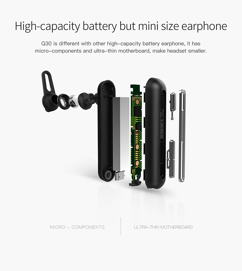QCY Q30 Wireless Business Earphone with Dual Noise Reduction Mic Bluetooth 4.2