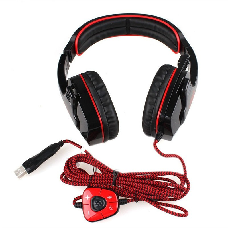 Sades SA-901 USB Gaming Headset with Microphone Noise Canceling for ps4