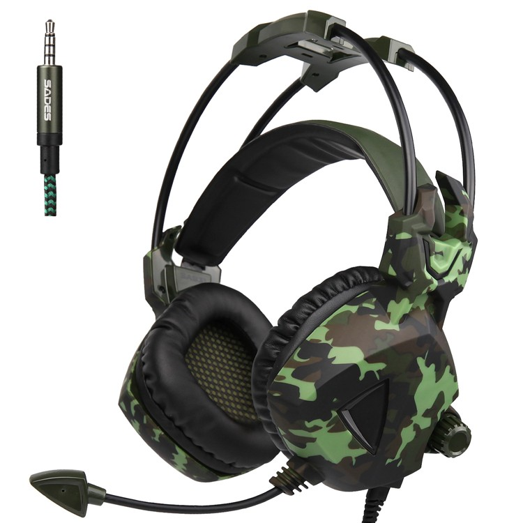 Sades SA-931 Gaming Stereo Headset for PC Microphone Mobile Phone Gamer
