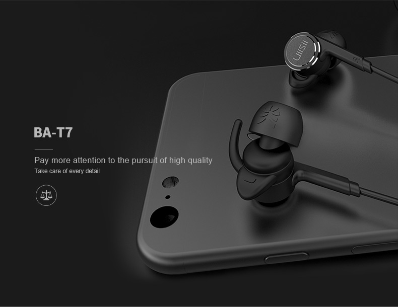 UiiSii BA-T7 In-ear Headphone with Microphone for iphone 5s Xiaomi PC
