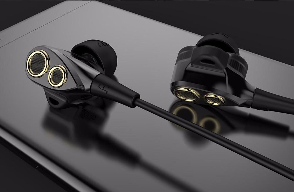 UiiSii BA-T8 HiFi Stereo Earphone With Mic for iPhone 5 6 Xiaomi Huawei Android