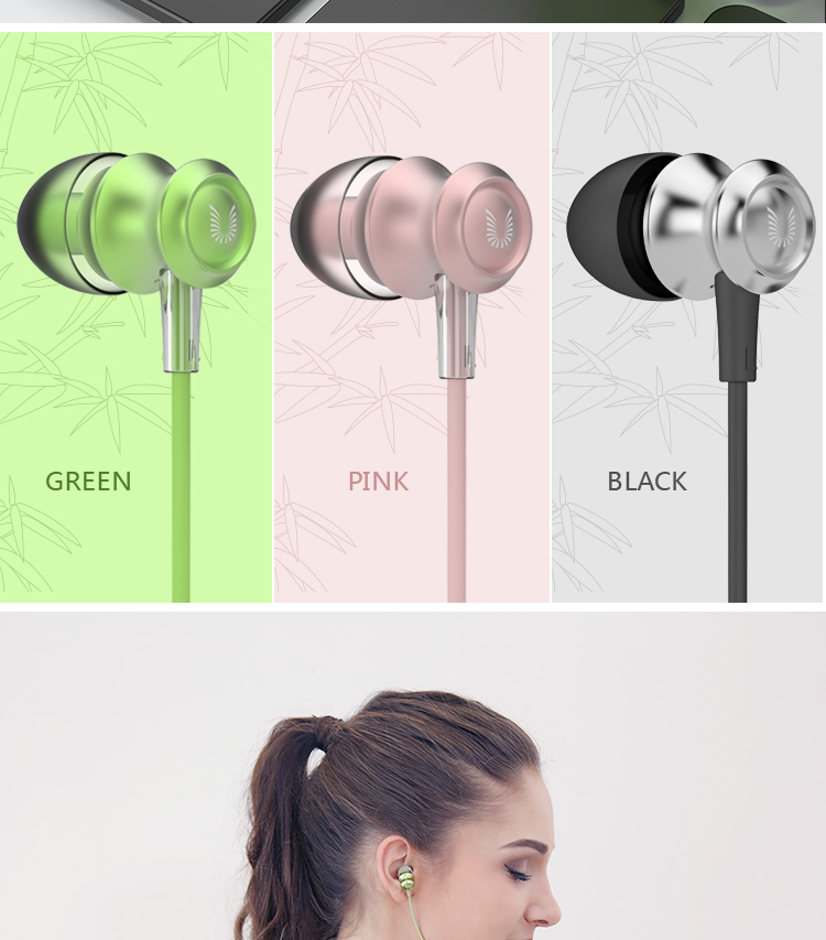 UiiSii US60 In-ear Headphone with Microphone for Mobile Phone