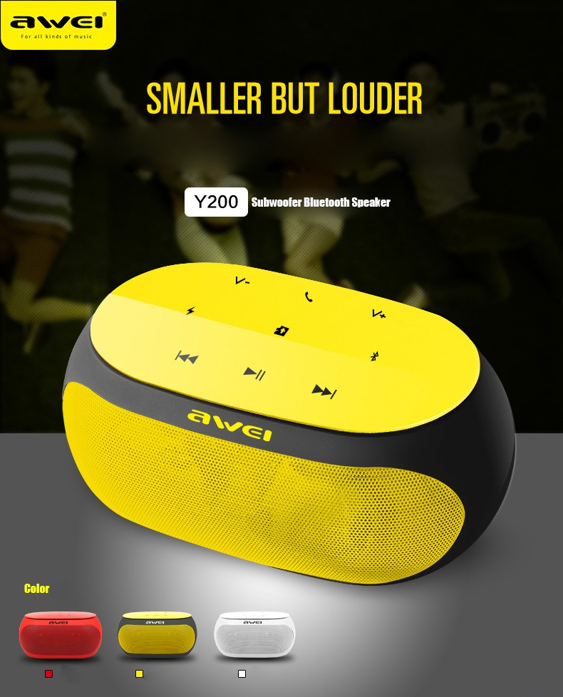 aWEI Y200 Handsfree Bluetooth Speaker Portable Wireless V3.0