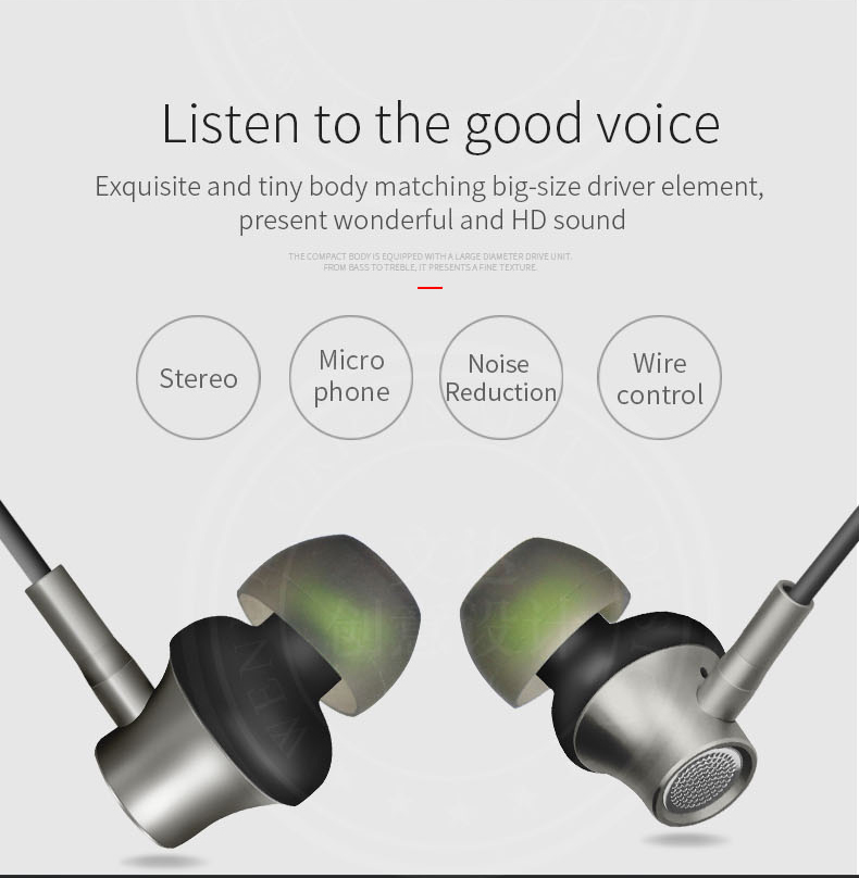ZERMIE EMB-ZM-06 Metal Earphone with Deep Bass Stereo for iPhone Samsung Xiaomi