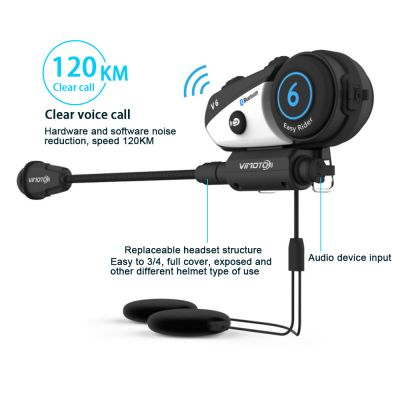 Vimoto V6 Motorcycle Helmet BT hi-fi Bluetooth Transmissions Interphone