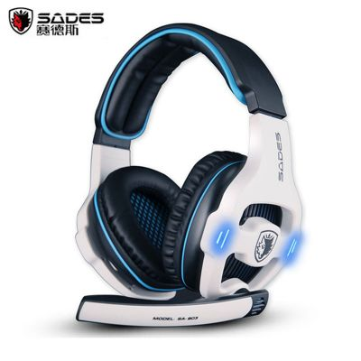 Sades SA-903 USB Gaming Headset with Mic Volume Control 7.1 Surround Sound for PS4