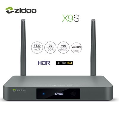 ZIDOO X9S TV Box 4K HD Quad-Core Dual Band WiFi 2G+16G IPTV Media