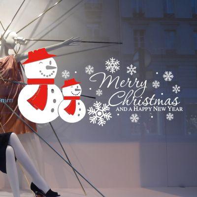 Snowman Christmas Wall Stickers Personalized Decorative Window Glass Stickers