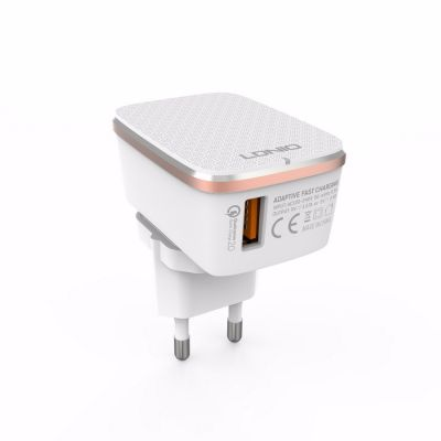 LDNIO A1204Q EU / USA / UK Quick Charger for iPhone Tablet Plug 2.0 1USB Port 5V / 2.4A