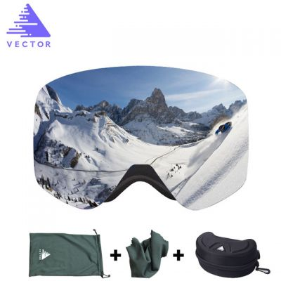 VECTOR HB108 Ski Goggles with Case Double Lens UV400 Anti-fog Winter Glasses
