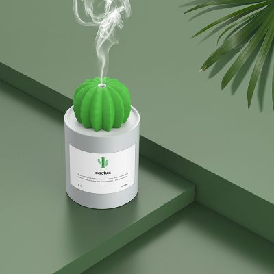 Creative Cactus Ultrasonic Humidifier Mini Portable Mute USB Aroma Air Purifier