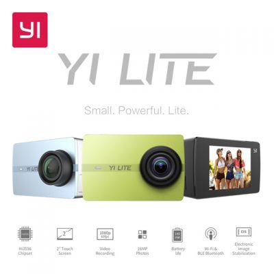 YI Lite 4K WiFi Action Camera LCD Touch Screen with 150 Degrees Wide Angle Lens