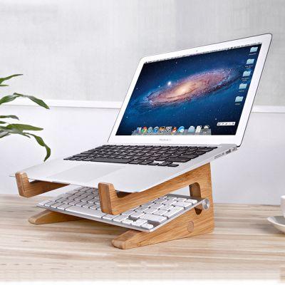 SeenDa Wooden Folding Desktop Stand Bracket for Laptop iPadMultifunction Detachable DIY