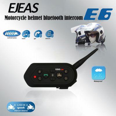 EJEAS E6 Motorcycle Helmet Interphone Bluetooth Waterproof Intercom Headset
