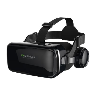 VR SHINECON SC-G04E Virtual Reality 3D Glasses with Built-in Headphone