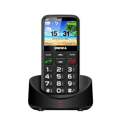 UNIWA V808G 2.31 Inch 3G Old Man Mobile Phone with Charging Dock