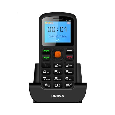 UNIWA V708 1.77 Inch Big Button Phone for Elderly with SOS Function