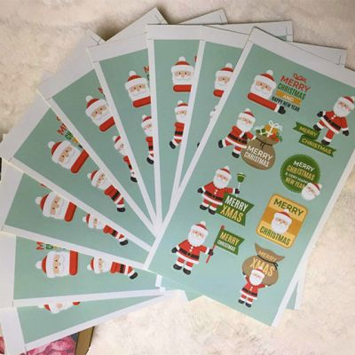 Christmas Elderly Sealing Stickers Biscuit Bags Cake Boxes Baking Packaging Stickers