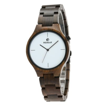 Redear SJ1603-3 Wooden Quartz Watch-Male