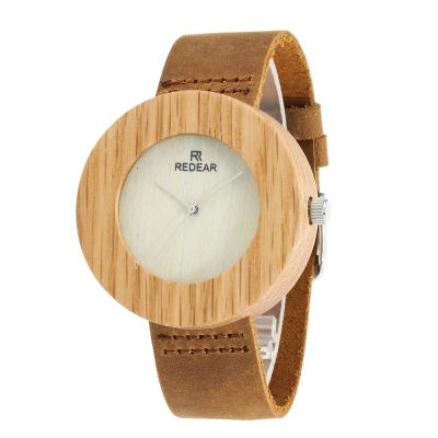 Redear SJ1522-1 Wooden Quartz Watch-Female Brown
